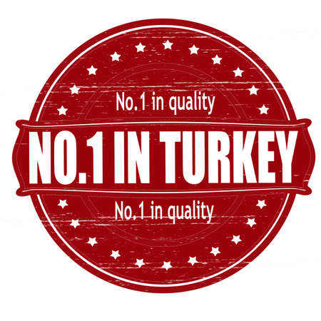 Stamp with text no one in Turkey inside, illustration  Vector