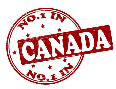 canada stamp: Stamp with text no one in Canada inside, illustration