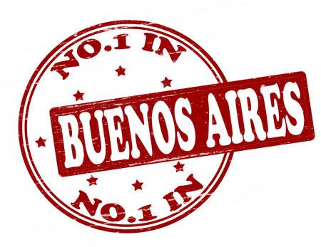 buenos aires: Stempel mit Text niemanden in Buenos Aires im Inneren, Abbildung Illustration