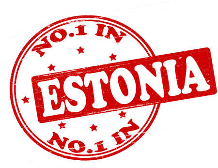 Stamp with text no one in Estonia inside, illustration  Vector