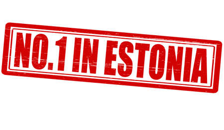 Stamp with text no one in Estonia vector illustration Vector