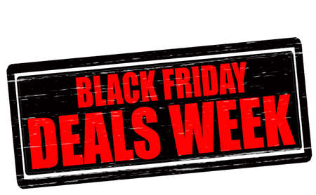 dealings: Stamp with text Black Friday deals week inside, vector illustration