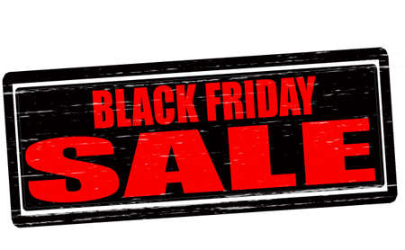 treachery: Stamp with text Black Friday sale inside, vector illustration