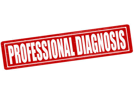 vocational: Stamp with text professional diagnosis inside