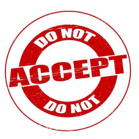 Stamp with text do not accept inside