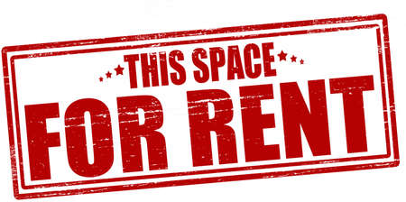 Stamp with text this space for rent inside, vector illustration Çizim