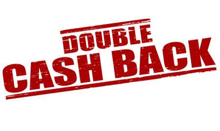 cash back: Stamp with text double cash back inside, vector illustration