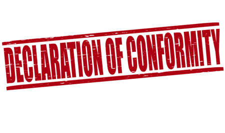 concordance: Stamp with text declaration of conformity inside, vector illustration