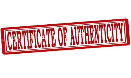 originalidad: Sello con el certificado de autenticidad de texto en el interior, ilustraci�n vectorial
