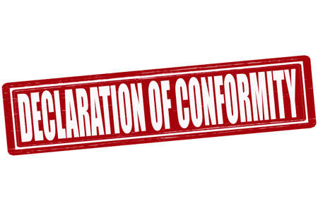 concordance: Stamp with text declaration of conformity inside,vector illustration