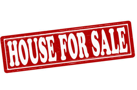 house for sale: Stamp with text house for sale inside, vector illustration