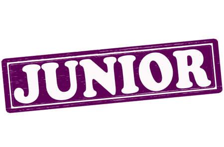 junior: Stamp with word junior inside Illustration