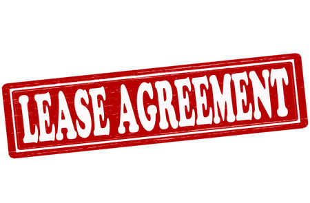 tenancy: Stamp with text lease agreement inside