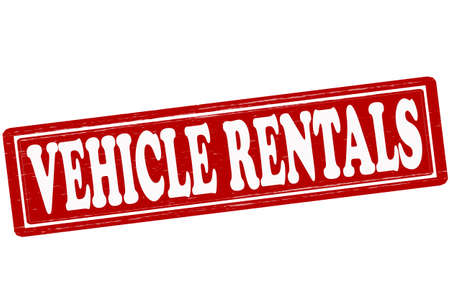rentals: Stamp with text vehicle rentals inside, vector ilustration