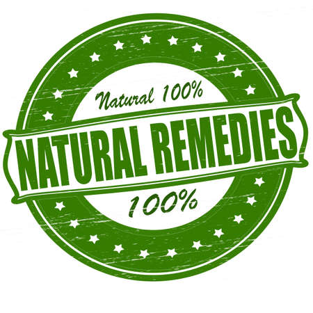 remedies: Stamp with text natural remedies inside, vector illustration