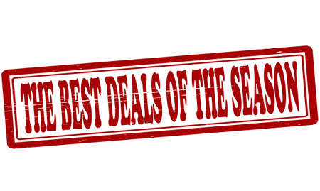 dealings: Stamp with text the best deals of the season inside, vector illustration