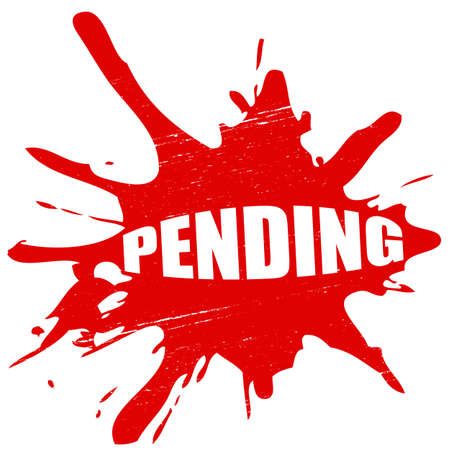 pending: Stamp with word,pending inside, vector illustration Illustration