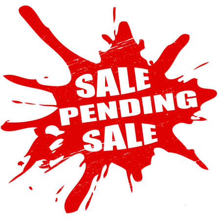 treachery: Stamp with text sale pending inside, vector illustration