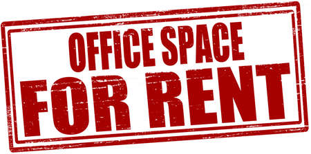 Stamp with text office space for rent inside, vector illustration