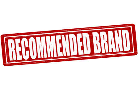 recommended: Stamp with text recommended brand inside