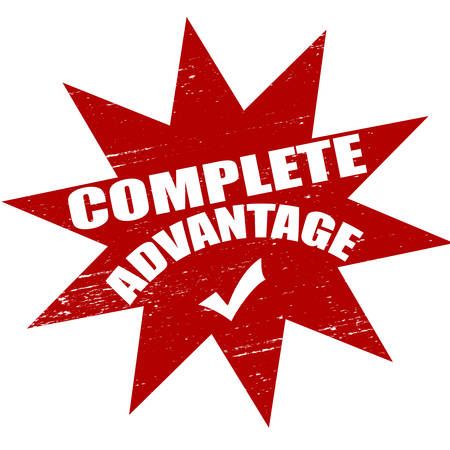 advantage: Stamp with text complete advantage inside