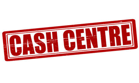 encash: Stamp with text cash centre inside,vector illustration