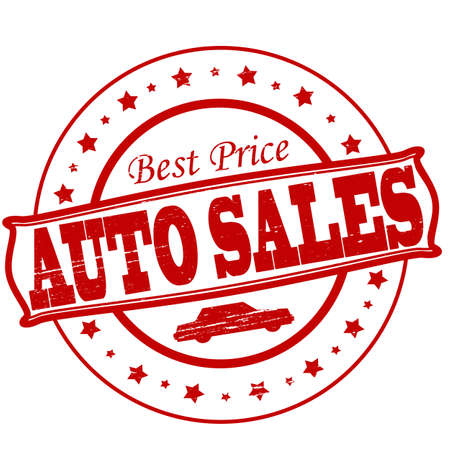 Stamp with text auto sales inside,vector illustration Vector