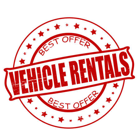rentals: Stamp with text vehicle rentals inside,vector illustration