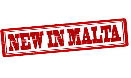 malta: Stempel met tekst nieuwe in Malta binnen.