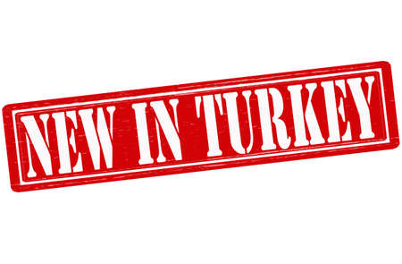 Stamp with text new in Turkey inside Vector