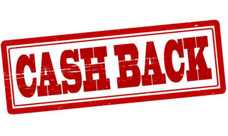 cash back: Stamp with text cash back inside, vector illustration
