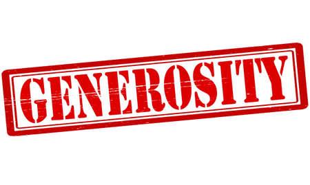 generosidad: Sello con la palabra generosidad interior, ilustraci�n vectorial