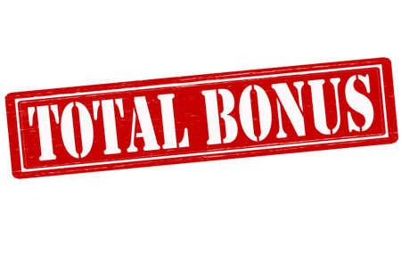 total: Stamp with text total bonus inside, vector illustration