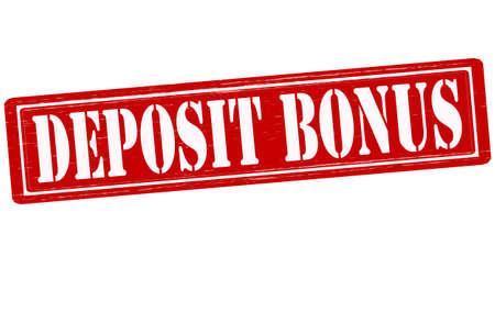 lay down: Stamp with text deposit bonus inside, vector illustration Illustration