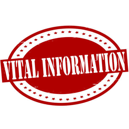 acquaintance: Sello con texto informaci�n vital interior, ilustraci�n vectorial