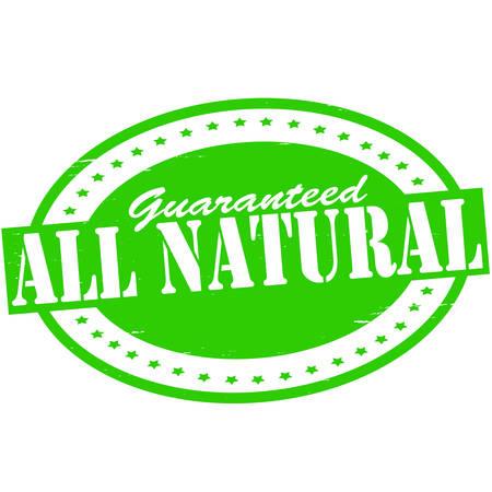 innate: Timbro con il testo tutto dentro naturale, illustrazione vettoriale Vettoriali