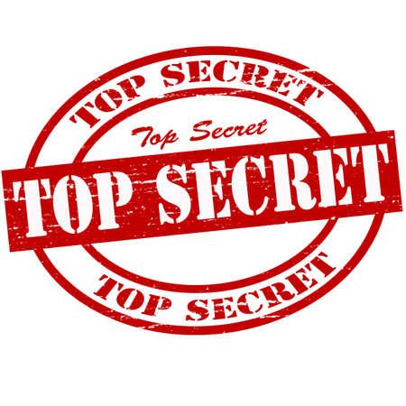 Stamp with text top secret inside, vector illustration Vector Illustration