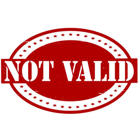 valid: Stamp with text not valid inside, vector illustration Illustration
