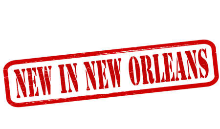 new orleans: Stamp with text new in New Orleans inside, vector illustration