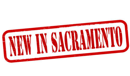 sacramento: Stamp with text new in Sacramento inside, vector illustration