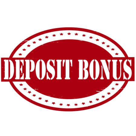 repository: Stamp with text deposit bonus inside, vector illustration Illustration