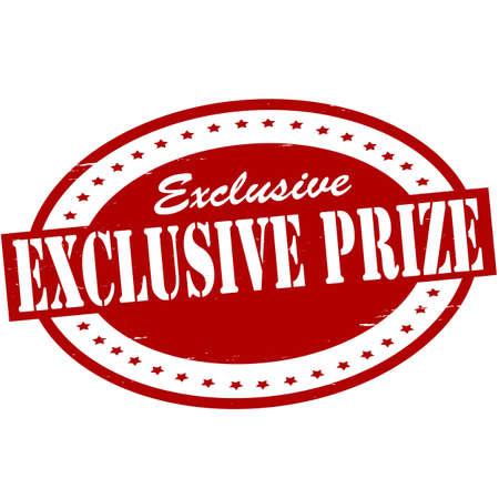bounty: Sello con el premio exclusiva texto dentro, ilustración vectorial