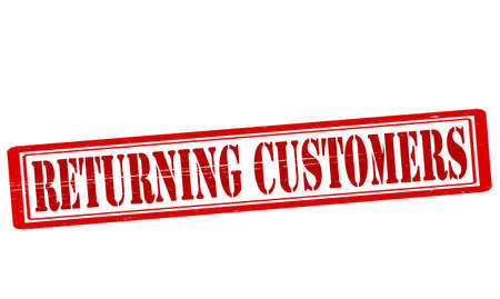 Stamp with text returning customers inside, vector illustration Vector
