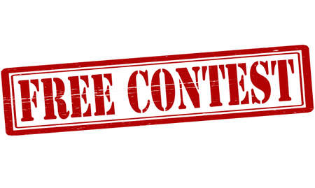 concurrence: Stamp with text free contest inside, vector illustration Illustration