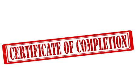 patente: Sello con el certificado de finalizaci�n de texto interior, ilustraci�n vectorial