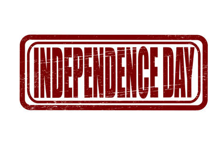 independency: Stamp with text independence day inside, vector illustration Illustration