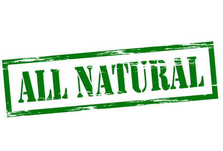 lifelike: Stamp with text all natural inside