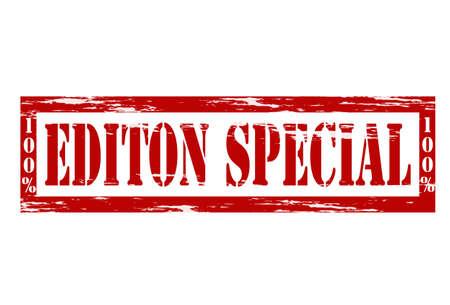 edizione straordinaria: Francobollo con l'edizione speciale all'interno del testo Vettoriali
