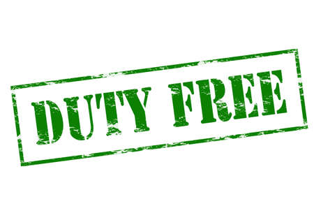 duty: Rubber stamp with text duty free inside