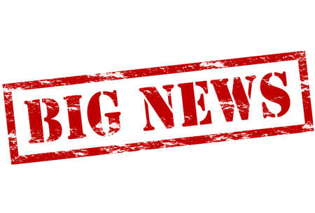 Rubber stamp with text big news inside